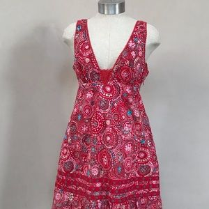 Red Floral Free People Dress